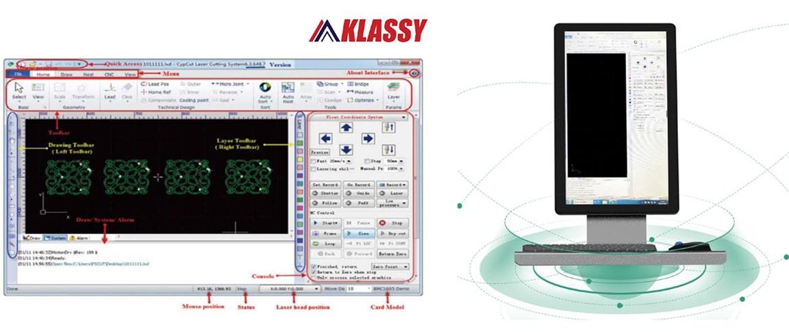 Hệ thống điều khiển CYPCUT và màn hình