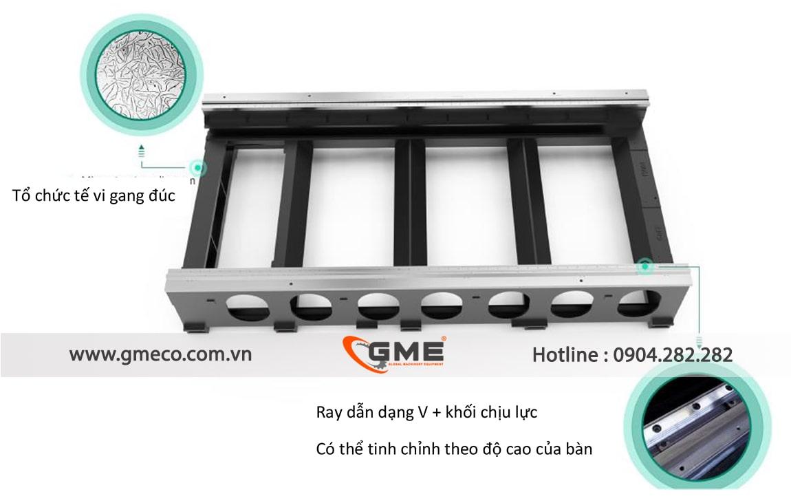 khung đúc nguyên khối chống rung ổn định không biến dạng