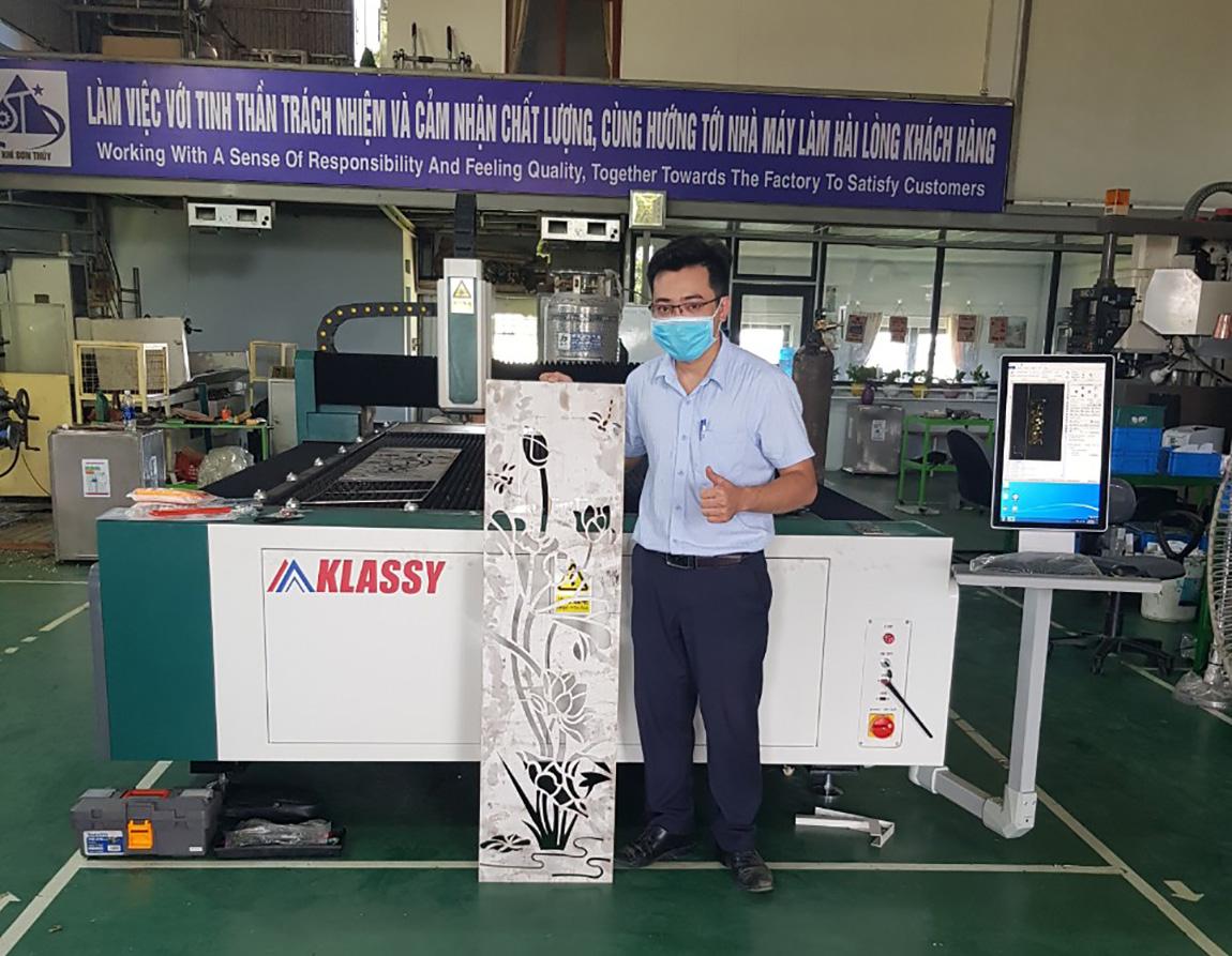 Bàn Giao Máy Cắt Laser Cnc Klassy Tại KCN Đồng Văn